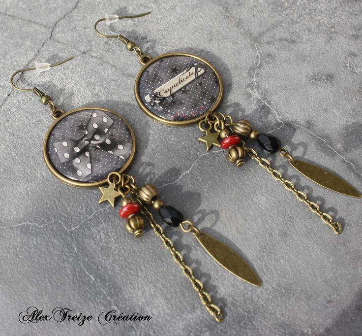 fr_bijou_createur_boucles_d_oreilles_pendantes_bronze_cabochon_mode_breloques_sequins_et_etoiles_perles_tons_noir_et_rouge_