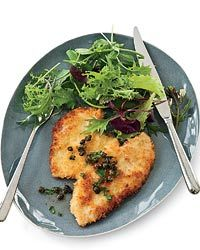 Panko-Coated Chicken Schnitzel // More Excellent Chicken Recipes: http://fandw.me/kgU #foodandwine