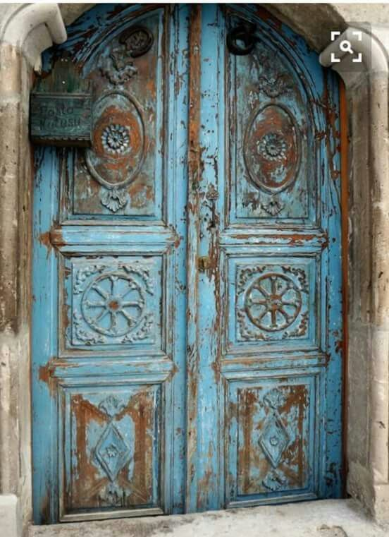 gorgeous old blue door with chippy paint - 317 Best Colorful Doors Images On Pinterest Windows, Change And