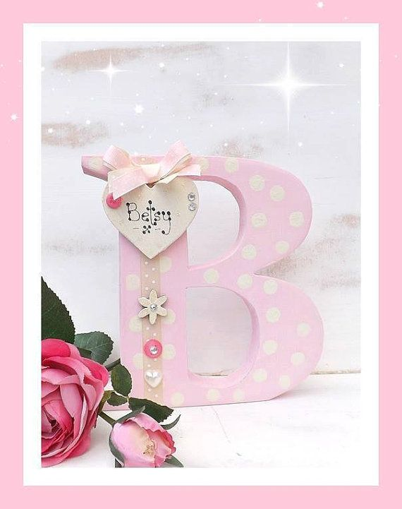Handmade Alphabet Standing Letter Name by TheLittleGreenshed14