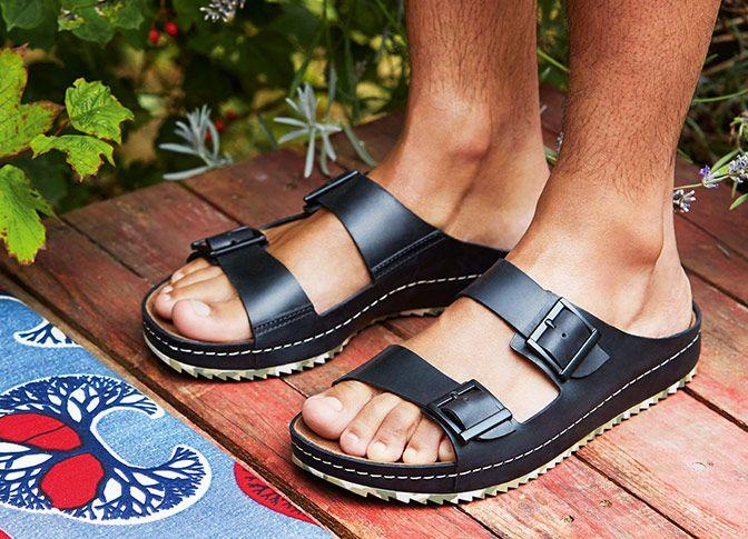 Heiße Sohle für heiße Tage! Sandalen im Military-Look, Clarks Netrix Buck, 89,95 Euro: http://www.clarks.de/p/26107045