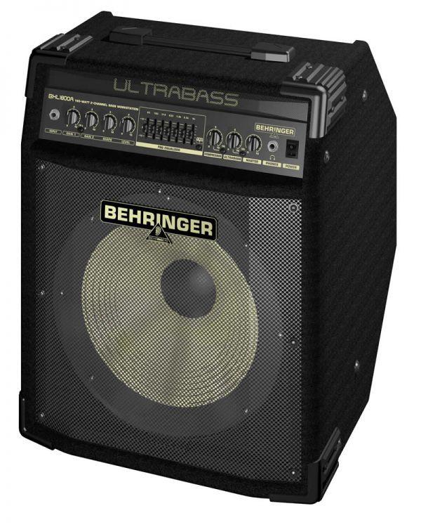 """AMPLIFICADOR DE BAJO BXL1800A Amplificador de 180 W y 2 canales para bajo con un altavoz BUGERA de 12"""" con cono de aluminio, analizador de espectro FBQ, compresor y procesador Ultrabass"""