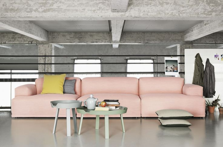 Beautifull Muuto sofa and Around small and large coffee table.