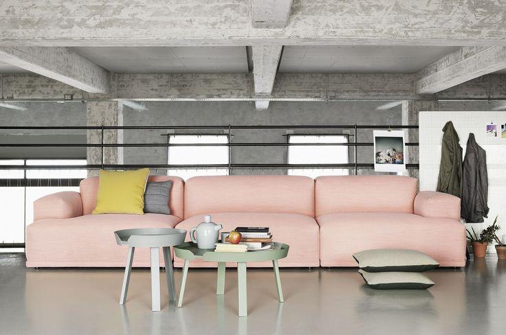 Beautifull Muuto sofa and Around small and large coffee table.