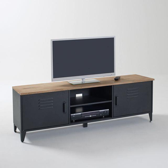 Les 25 meilleures id es de la cat gorie meuble tv for Meuble tv bois noir