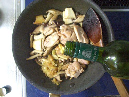 鶏とキノコのクリーム煮13
