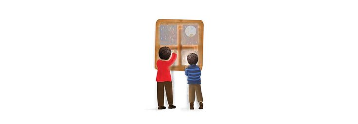 "Album ilustrado  ""contemplando la lluvia"""