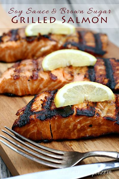 Soy Sauce and Brown Sugar Grilled Salmon by Let's Dish Recipes
