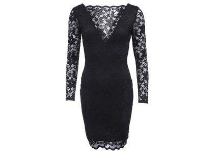 Černé krajkované šaty s otevřenými zády Lipsy
