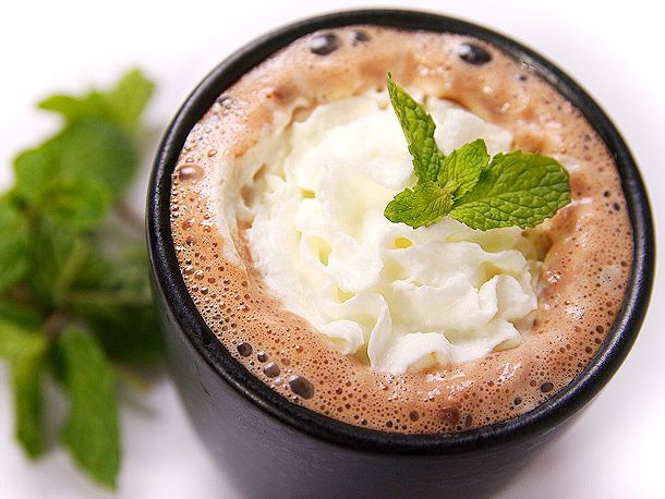 Mint Hot Chocolate - (Hot chocolate, tequila and peppermint schnapps) How to found here http://www.seriouseats.com/recipes/2012/02/tequila-mint-spiked-hot-chocolate-recipe.html |  Amazing Ways To Spike Hot Chocolate