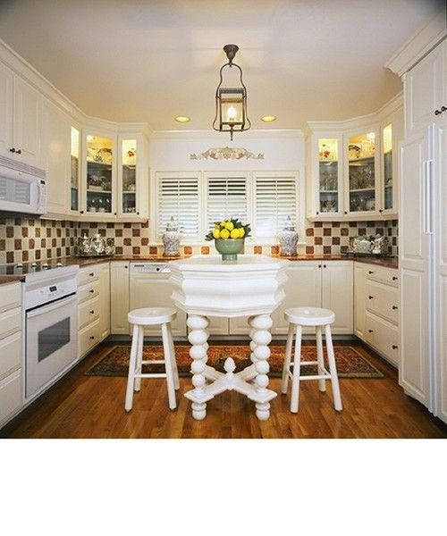 white kitchen bar table