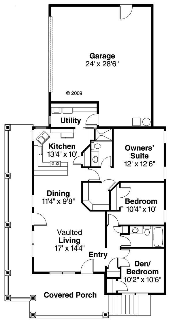 Best Houseplans Bedroom Images On Pinterest Architecture - 3 bedroom den 1 story house plans