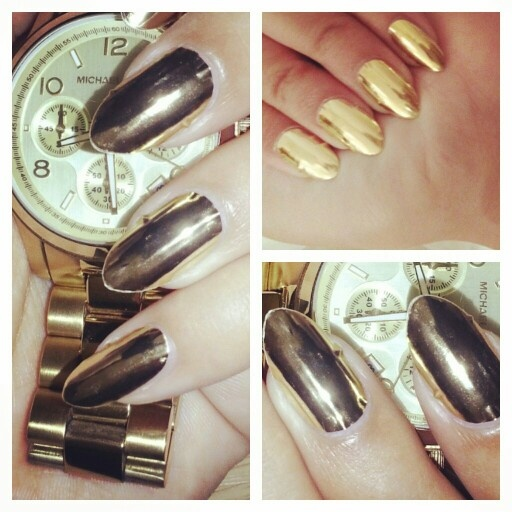 Day 8-metallic nails