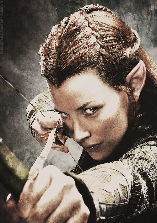 The Hobbit: The Desolation of Smaug- I love her hair! @Mary Gs remember when we tried to do this?