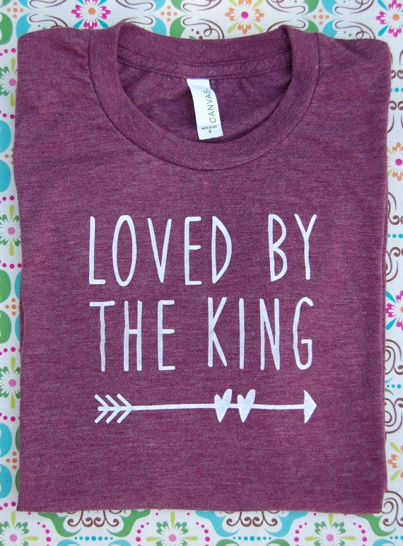 Loved By the King Triblend Short-Sleeve T-Shirt on Etsy, $20.00