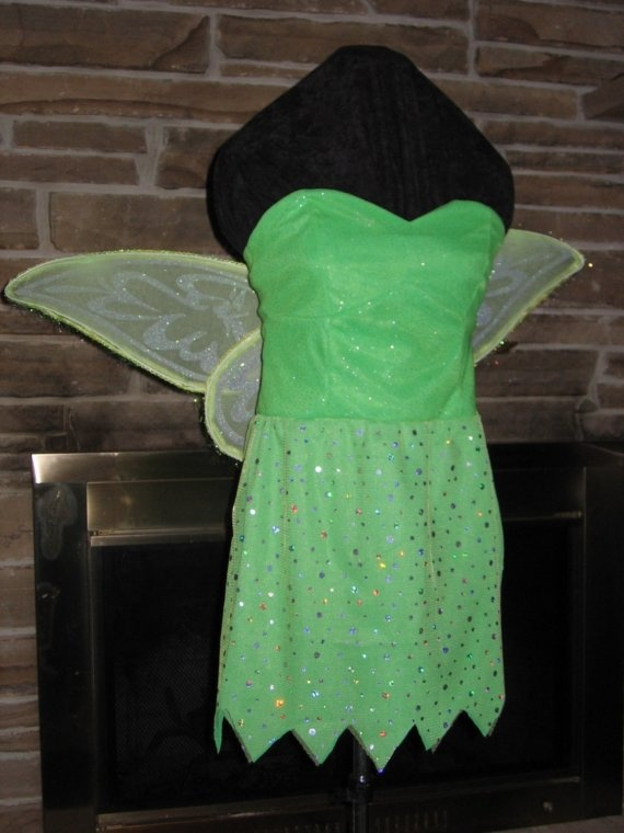 Tinkerbell fairy princess costume with wings by sugar352 on Etsy, $150.00