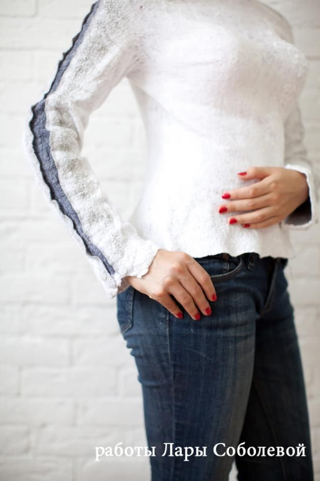 МК Платье (или жакет) на мини шаблоне, цельновалянное - Ярмарка Мастеров - ручная работа, handmade