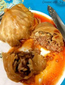 Golabki (Stuffed Cabbage). Traditional Polish dish.