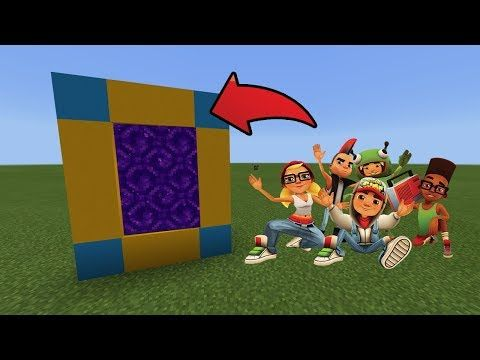 How To Make a Portal to the Subway Surfers Dimension in MCPE