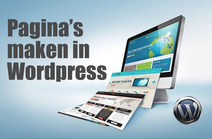 Pagina's maken in wordpress