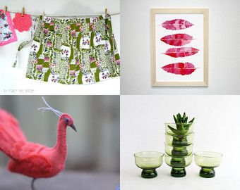forest, flowers, feathers and foliage  by Alison Machin on Etsy--Pinned+with+TreasuryPin.com