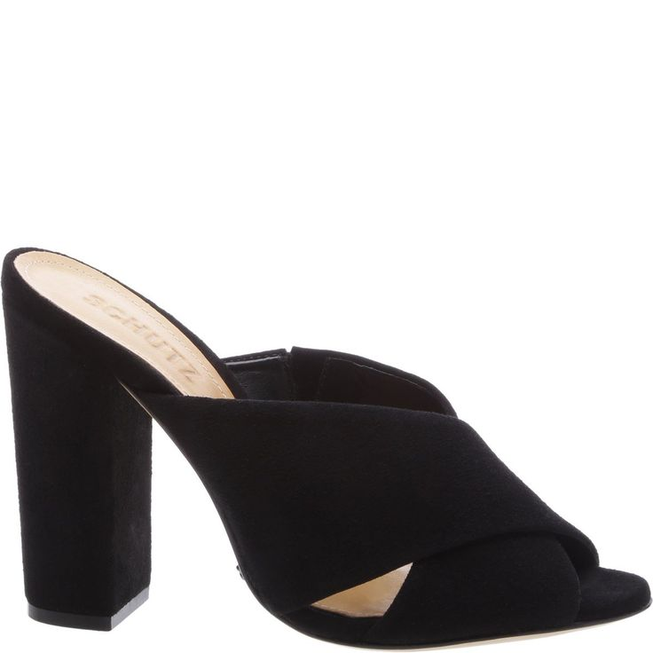 HIGH HEEL MULE SANDAL - Leather Insole - Leather Outsole - Upper: Kid Suede