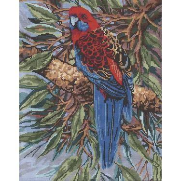 Australian Birds Crimson Rosella Tapestry Multicoloured 50 x 60 cm | Spotlight Australia