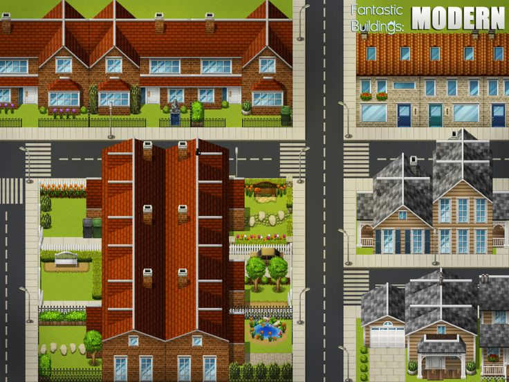 map rpg maker pixel game houses modern buildings isometric maps sprites nl fantastic concept scene