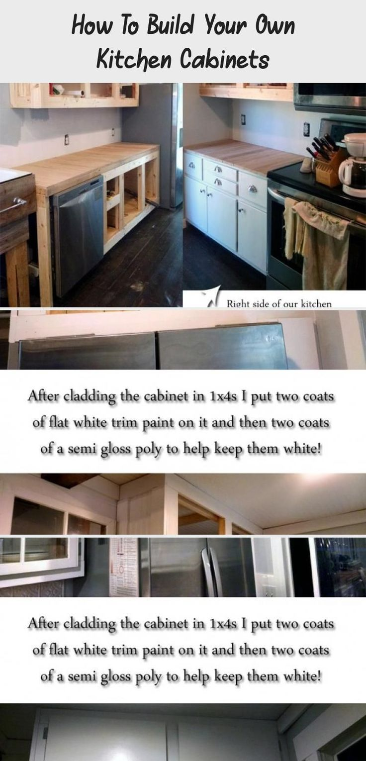 how to build your own kitchen cabinets - home design in 2020
