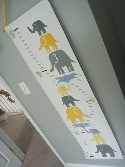 A closer look at the amazing growth chart. I'd love this but in red, yellow and turquoise