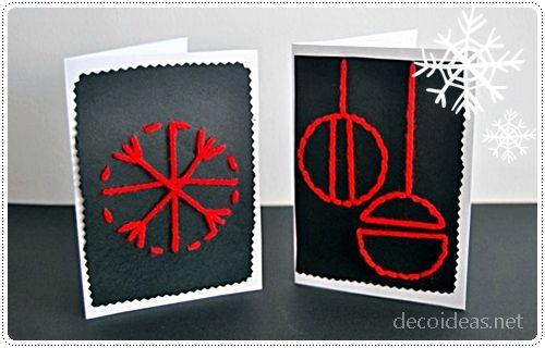 Manualidades tarjetas navideñas, ideas postales navidad