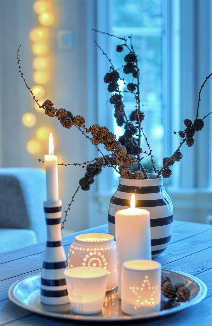 Winter Coffee Table Decor Idea