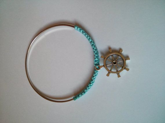 Light blue anchor bangle by LiquoriceWings on Etsy, £1.50