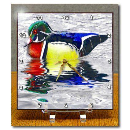 dc_23311_1 SmudgeArt Bird Art Designs - Wood Duck - Desk Clocks - 6x6 Desk Clock 3dRose http://www.amazon.com/dp/B005CLWF2I/ref=cm_sw_r_pi_dp_3PQbwb1699GJJ