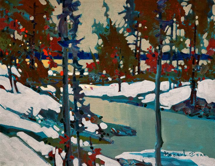 Robert Genn - Bald Indian Bay, lake of the Woods - can't get enough of this man's art!