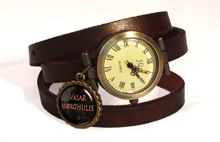 Leather watch bracelet Valar Morghulis, 0728WDB from EgginEgg by DaWanda.com