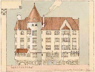 Jugend house,  Art Nouveau house  by Gesellius, Lindgren, Saarinen, 1902  Helsinki, Finland