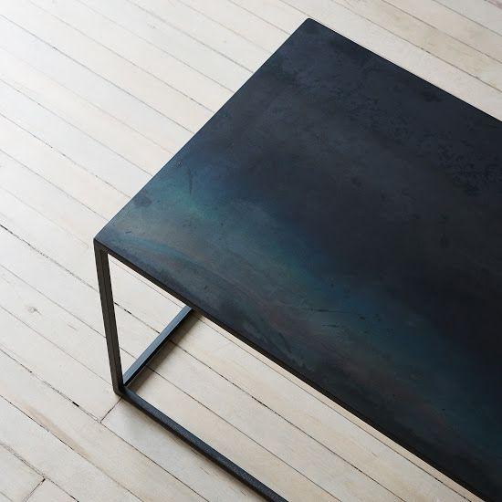 Blackened Steel Coffee Table