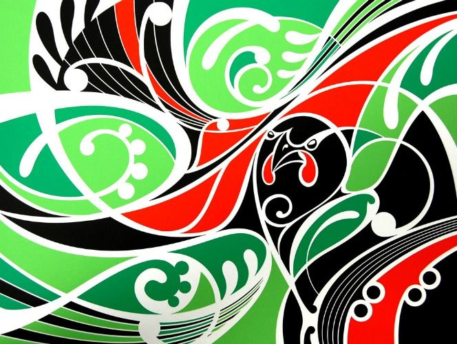 Ataahua Tieke (Green) by Shane Hansen for Sale - New Zealand Art Prints