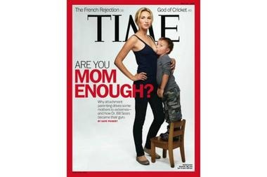 Did Time sexualize breastfeeding with its 'Are you mom enough' cover?  Time cover-model Jamie Lynne Grumet intended to portray extended breastfeeding as normal. But many thought the controversial picture of Ms. Grumet and her son sexualized the relationship.      By Patrik Jonsson,writer / May 12, 2012 at the Christian Science Monitor (csmonitor.com)