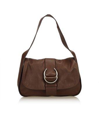 4ecf30101d25 PRADA PRE-OWNED  LEATHER SHOULDER BAG.  prada  bags  shoulder bags  leather