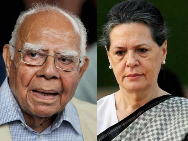 National Herald Case: Ram Jethmalani offers to defend Sonia, Rahul for free  Read more at: http://www.oneindia.com/india/national-herald-case-ram-jethmalani-offers-to-defend-sonia-rahul-for-free-1982739.html