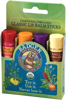 Badger Balm Lipstick Set Green