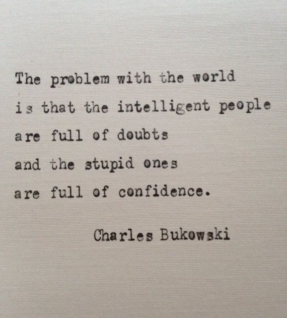 Charles Bukowski quote hand typed on antique by BookoftheDad