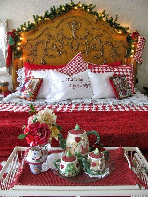 Quotes For Christmas Cushion Covers For Christmas Decoration #christmas #christmasdecor #christmasbedroomdecoration #christmasbedroomdecoratingideas ... & 45+ Peppy Christmas Bedroom Decoration Ideas That Echo the Festive ...