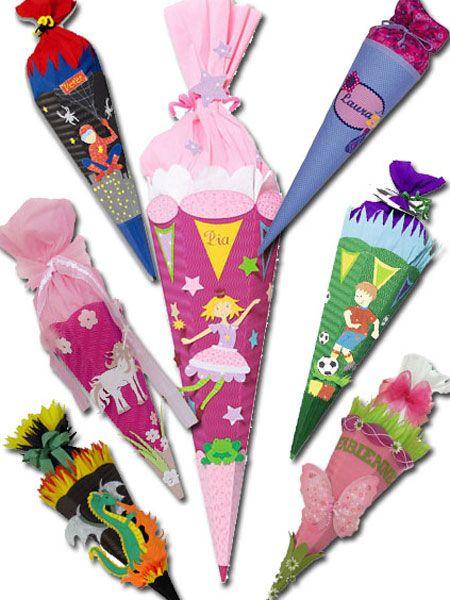 Schultüte basteln! Diese Zuckertüten lassen Kinder-Herzen höher schlagen... - Schultuete-h0