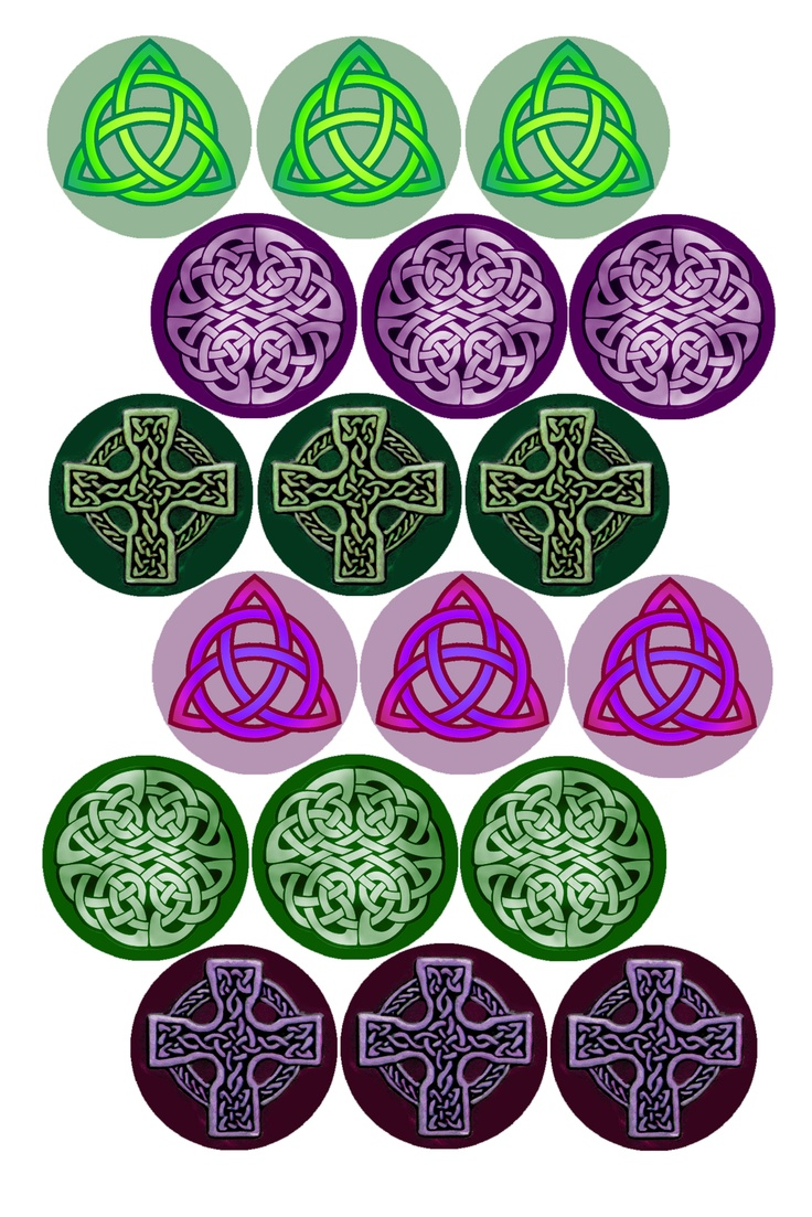 """Celtic Knots #1 Bottle cap image pack Formatted for printing on 4"""" x 6"""" photo paper"""