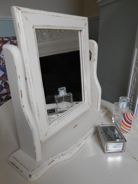 Shabby Chic Dressing Table Mirror in Cream