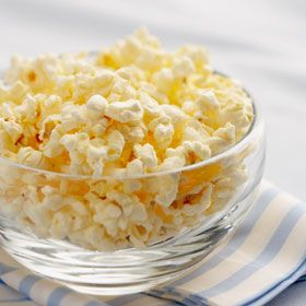 Popcorn! Air-popped, real butter, salt, cheese. I can eat popcorn no matter how full I might be. If I smell it I want it.