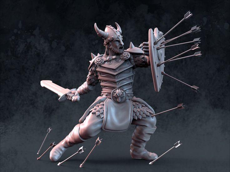 Warrior, Krisztián Hartmann on ArtStation at https://www.artstation.com/artwork/warrior-9dff2e7a-ce55-4eaf-bbd4-850b1e04133a